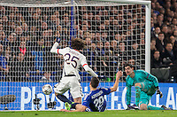 Adrien Rabiot of Paris Saint-Germain scores his goal to make it 1 0 during the UEFA Champions League Round of 16 2nd leg match between Chelsea and PSG at Stamford Bridge, London, England on 9 March 2016. Photo by Andy Rowland.