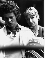 CHRIS EVERT (USA)<br /> (&amp; PAM SHRIVER, foreground)<br /> Wimbledon 1981Chris Evert (USA)<br /> Copyright Michael Cole