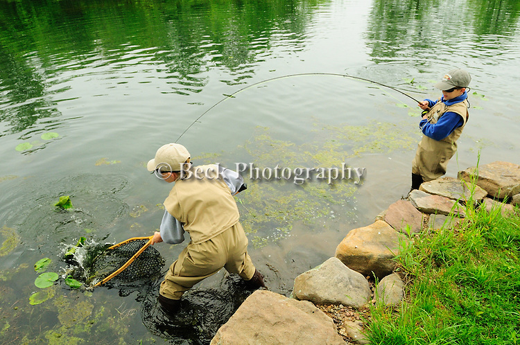 BRYCE AND AIDEN FORY FLY FISHING IN FRESHWATER