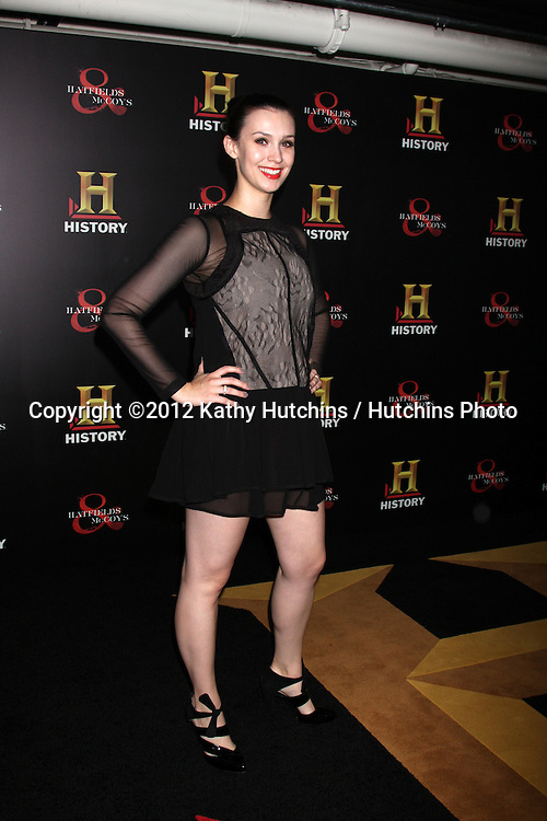 """LOS ANGELES - SEP 22:  Alix Berg arrives at the """"HATFIELDS & McCOYS"""" Pre-Emmy Party. at SOHO Club on September 22, 2012 in West Hollywood, CA"""