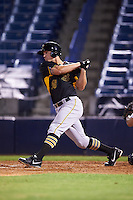 Bradenton Marauders first baseman Jerrick Suiter (25) at bat during a game against the Tampa Yankees on April 11, 2016 at George M. Steinbrenner Field in Tampa, Florida.  Tampa defeated Bradenton 5-2.  (Mike Janes/Four Seam Images)