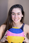 SAN DEIGO - MAY 9:  Water Polo player Delaney Kuepper poses for a portrait on May 9, 2018 in San Diego, California. Kuepper is the starting goalie for the SD Shores and will be the goaltender for Bishop High School next year. (Photo by Donald Miralle)