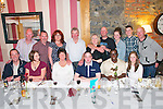 Double Celebration : Ruairi O'Brien & Quintin Gambura celebrating their30th & 40th birthdays respectively with family & friends at Mai Fitz's Restaurant, Listowel on Saturday night last. Front : Johnny, Shirley, Anne & Ruairi O'Brien, Quintin Gambura & Cara O'Brien. Back : Fergus Darragh, Emma, Colm, Deidre, David, Sarah, Eimlin & Ciaran O'Brien.