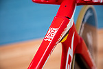 Ridley Bikes &quot;Flying Moustache&quot; the name given to European Time Trial Champion Victor Campenaerts (BEL) bike to set the new UCI Hour Record holder after covering 55,089 km, beating Bradley Wiggins record by 563 metres. Aguascalientes, Mexico. 16th April 2019.<br /> Picture: Ridley Bikes | Cyclefile<br /> <br /> All photos usage must carry mandatory copyright credit (&copy; Cyclefile | Ridley Bikes)