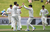 4th December 2017, Basin Reserve, Wellington, New Zealand; International Test Cricket, Day 4, New Zealand versus West Indies;  Players celebrates the wicket Hope off the bowling of Boult
