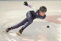 SCHAATSEN: HEERENVEEN: 05-01-2017, Shorttrack kwalificatie WK Junioren, Nils van der Vegt, ©foto Martin de Jong SCHAATSEN: HEERENVEEN: 05-01-2017, IJsstadion Thialf, shorttrack, ©foto Martin de Jong