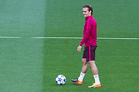 Antoine Griezmann of Atletico de Madrid during the training before the match of Champions League between Real Madrid and Atletico de Madrid at Santiago Bernabeu Stadium  in Madrid, Spain. May 01, 2017. (ALTERPHOTOS/Rodrigo Jimenez)<br /> Champions League 2016/2017<br /> Foto Alterphotos / Insidefoto <br /> ITALY ONLY