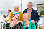 Front L-r Helen Bailey, Mary Cronin, Tj Cronin and Mike Power. enjoying the Abbeydorney Vintage Show on Sunday