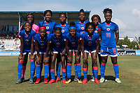 Bradenton, FL - Sunday, June 10, 2018: Haiti Starting XI during a U-17 Women's Championship match between the United States and Haiti at IMG Academy.  USA defeated Haiti 3-2 to advance to the finals.