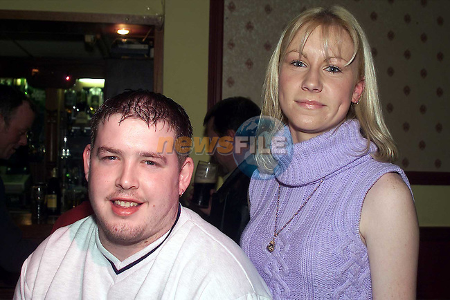 Chris Kierans and Suzanne Eagan, Duleek, enjoy the fundraising night for the Share A Dream Foundation in O'Neills in Duleek..Picture: Arthur Carron/Newsfile