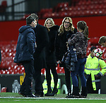 Film star Julia Roberts meets Coleen Rooney during the Premier League match at the Old Trafford Stadium, Manchester. Picture date: November 27th, 2016. Pic Simon Bellis/Sportimage