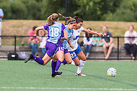 Allston, MA - Sunday July 31, 2016: Maddy Evans, Samantha Witteman, Brooke Elby during a regular season National Women's Soccer League (NWSL) match between the Boston Breakers and the Orlando Pride at Jordan Field.