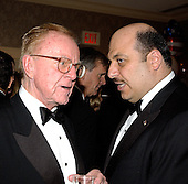 Talk show host John McLaughlin, left shares some thoughts with Karim Kawar, Ambassador of Jordan, right, at a reception prior to the 2005 White House Correspondents Dinner in Washington, D.C. on April 30, 2005.<br /> Credit: Ron Sachs / CNP<br /> (RESTRICTION: NO New York or New Jersey Newspapers or newspapers within a 75 mile radius of New York City)