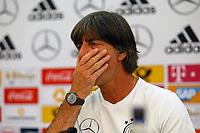 Bundestrainer Joachim Loew (Deutschland Germany) - 01.06.2018: Pressekonferenz der Deutschen Nationalmannschaft zur WM-Vorbereitung in der Sportzone Rungg in Eppan/Südtirol