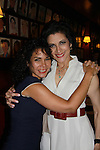 Opening Night of Manipulation and after party at Sardis - Saundra Santiago poses with Daphne Rubin-Vega after the play Manipulation on June 28, 2011 at the Cherry Lane Theatre, New York City, New York. (Photo by Sue Coflin/Max Photos)