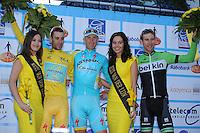 WIELRENNEN: SURHUISTERVEEN: 05-08-2014, Profronde Surhuisterveen, rondemiss, Vincenzo Nibali (winnaar Tour de France), Lieuwe Westra, rondemiss, Bauke Mollema, ©foto Martin de Jong