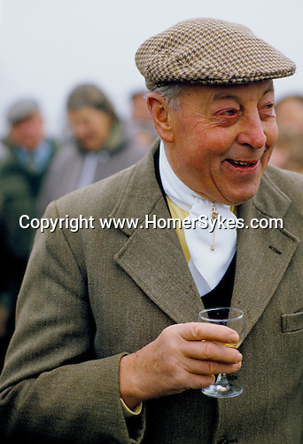 Jack Windell, hunting farmer at the Duke of Beaufort Hunt Gloucestershire. The Badminton Estate.