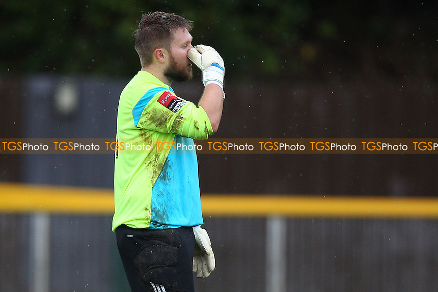 Frustration for Aaron Ormand of Romford after Needham Market take a 2-0 lead - Romford vs Needham Market - Ryman League Division One North Football at Ship Lane, Thurrock FC - 04/10/14 - MANDATORY CREDIT: Gavin Ellis/TGSPHOTO - Self billing applies where appropriate - contact@tgsphoto.co.uk - NO UNPAID USE
