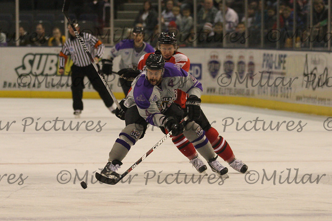Mathieu Wathier on the puck
