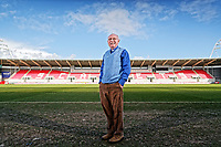 Pictured: Reverend Eldon Phillips, the Chaplain of the Scarlets inside the Parc Y Scarlets. Wednesday 09 March 2018<br /> Re: The effect that the Scarlets RFC has had in the town of Llanelli in Carmarthenshire and the west Wales region.