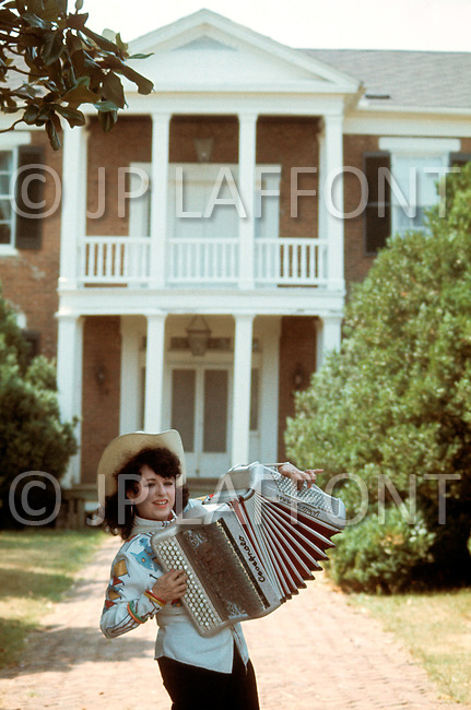 Nashville, Tennessee - June 10, 1977. This photograph was taken of Yvette Horner playing the accordion in Nashville, Tennessee, where she was scheduled to play at the Ole Opry. Yvette Horner (born September 22nd, 1922) is a renown French accordionist, whose career has spanned over 70 years, has given thousands of concerts around the world and sold over 30 million records.