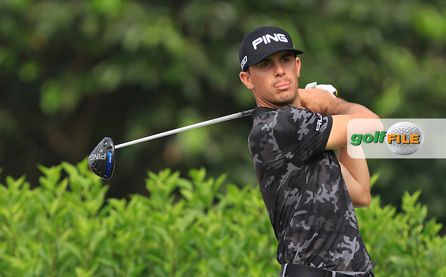 Billy Horscel (USA) on the 7th tee during Round 4 of the CIMB Classic in the Kuala Lumpur Golf &amp; Country Club on Sunday 2nd November 2014.<br /> Picture:  Thos Caffrey / www.golffile.ie