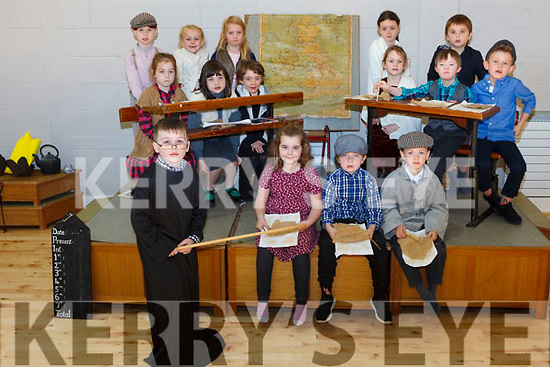 Celebrating 140 years of Dromclough National School last week were: Conor Quinn, Becky Dowling, Rory Stack and Jack Cahill. Ria O'Connell, Kelly Quirke, Ciara Keane, Joe Barry, Ava Maher, Sinéad Leahy, Sadie Duffy, Eddie O'Connell, Michael Somers, Katelyn Lyons and Charlie Henderson.