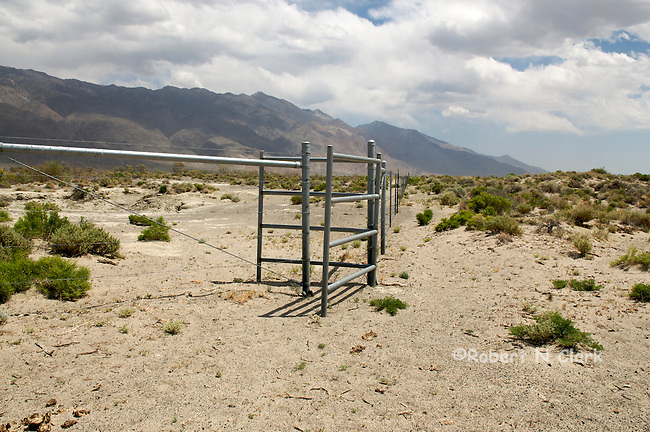 Pedestrian access gate on the lower Owens River