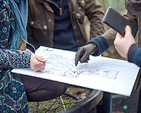 13 May 2019 - Kensington Palace photo dated February 2019 of of a close up of garden plans as Kate Duchess of Cambridge Catherine Katherine Middleton, Andree Davies and Adam White, discuss ideas for her, Back To Nature garden, which will be entered at the RHS Chelsea Flower Show this month. The woodland wilderness garden aims to get people back to nature and highlight the benefits of the natural world on physical and mental wellbeing. It will feature a swing seat, a rustic den and a campfire, with a centrepiece of a high platform treehouse. Photo Credit: Kensington Palace NEWS/ALPR/AdMedia