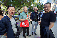 13th Biennale of Architecture..profil journalist and AZW Director Dietmar Steiner (2nd from r.) with architects.