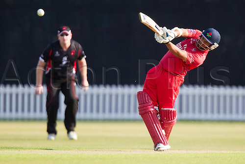11.07.2014. Leicester, England. NatWest T20 Blast, Leicestershire Foxes vs Lancashire Lightning. PJ HORTON (Lancashire Lightning) hits out.
