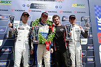 Race One Podium Celebrations,  during TCR UK Championship Race One as part of the BRSCC TCR UK Race Day Oulton Park  at Oulton Park, Little Budworth, Cheshire, United Kingdom. August 04 2018. World Copyright Peter Taylor/PSP. Copy of publication required for printed pictures.