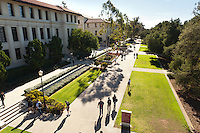 Main walkway near the Academic Quad, Occidental College campus, Los Angeles, Calif. on Jan. 25, 2012. (Photo by Marc Campos, Occidental College Photographer)