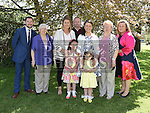 Sophie Fagan Barry who was confirmed in Holy Family church Ballsgrove pictured with her family. Photo:Colin Bell/pressphotos.ie