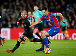 Crystal Palace's Scott Dann tussles with Arsenal's Jack Wilshere during the premier league match at Selhurst Park Stadium, London. Picture date 28th December 2017. Picture credit should read: David Klein/Sportimage