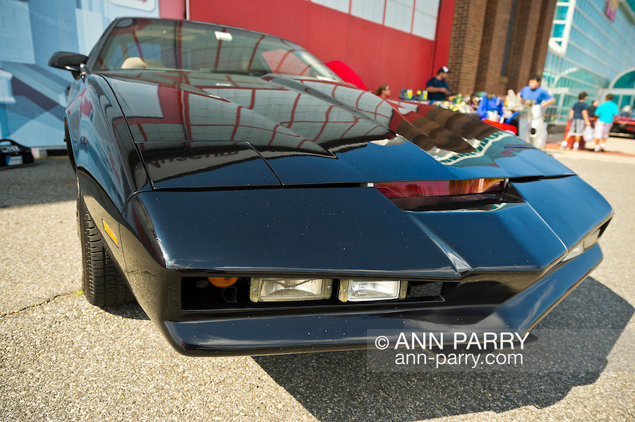 Garden City, New York. 15th June 2013. A Knight Rider car, which was used for promo shots for the 2008 TV pilot, is at the Eternal Con Pop Culture Expo, which was hosted by the Cradle of Aviation Museum of Long Island.