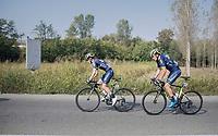 Adam Yates (GBR/Orica-Scott) &amp; Robert Power (AUS/ORICA-Scott)<br /> <br /> 98th Milano - Torino 2017 (ITA) 186km