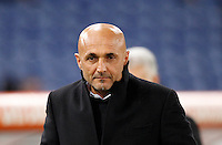 Calcio, Serie A:  Roma vs Palermo. Roma, stadio Olimpico, 21 febbraio 2016. <br /> Roma's coach Luciano Spalletti arrives for the Italian Serie A football match between Roma and Palermo at Rome's Olympic stadium, 21 February 2016.<br /> UPDATE IMAGES PRESS/Riccardo De Luca