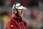 Wisconsin Badgers assistant coach Bob Bostad looks on during an NCAA Big Ten Conference college football game against the Penn State Nittany Lions on November 26, 2011 in Madison, Wisconsin. The Badgers won 45-7. (Photo by David Stluka)