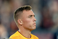 FOXBOROUGH, MA - SEPTEMBER 21: Corey Baird #17 of Real Salt Lake during a game between Real Salt Lake and New England Revolution at Gillette Stadium on September 21, 2019 in Foxborough, Massachusetts.