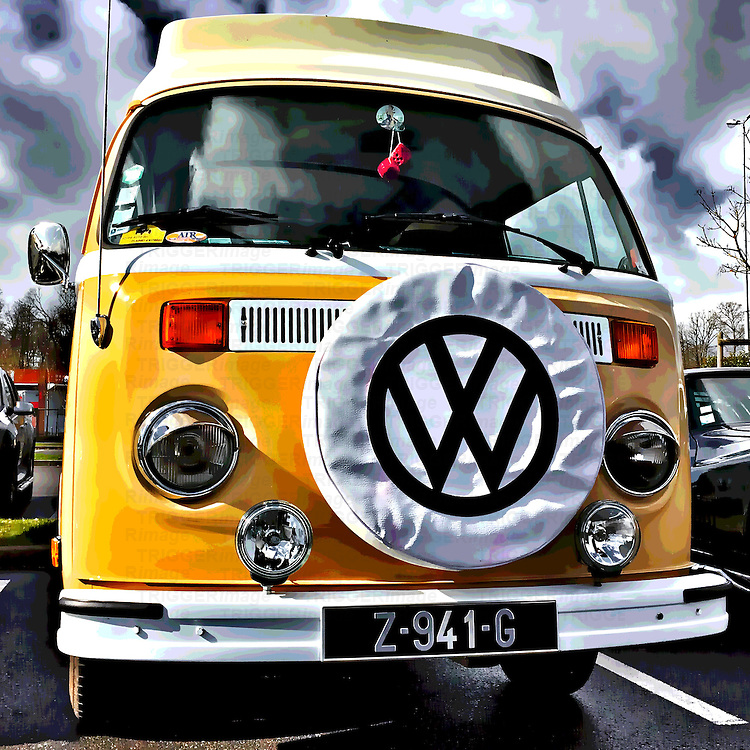 Old retro Volkswagen vehicle