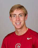 John Morrissey, with the Stanford Men's Tennis Team. Photo taken on Monday, September 23, 2013.