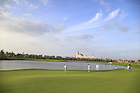 Miguel Angel Jimenezl (ESP) on the 6th green during Tuesday's Pro-Am Day of the 2014 BMW Masters held at Lake Malaren, Shanghai, China 28th October 2014.<br /> Picture: Eoin Clarke www.golffile.ie
