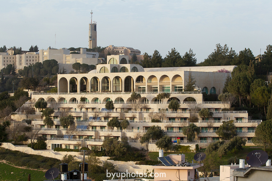 1203-57 0123.CR2<br /> <br /> BYU Jerusalem Center exterior and  Old Jerusalem <br /> <br /> March 12-23, 2012<br /> <br /> Photography by Mark A. Philbrick<br /> <br /> Copyright BYU Photo 2012<br /> All Rights Reserved<br /> photo@byu.edu  (801)422-7322