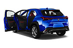 Car images close up view of a 2019 Lexus UX 250h-F-SPORT 5 Door SUV doors