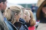 Polly Stockton watching the 1st Veterinary Inspection at the 2012 Land Rover Burghley Horse Trials in Stamford, Lincolnshire, England, UK.