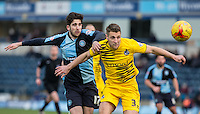 Max Kretzschmar of Wycombe Wanderers & Lee Brown of Bristol Rovers      battle for the ball during the Sky Bet League 2 match between Wycombe Wanderers and Bristol Rovers at Adams Park, High Wycombe, England on 27 February 2016. Photo by Andy Rowland.