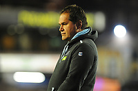 Head Coach Dave Rennie of Glasgow Warriors during the pre match warm up for the Guinness Pro14 Round 15 match between the Cardiff Blues and Glasgow Warriors at Cardiff Arms Park in Cardiff, Wales, UK.  Saturday 16 February 2018