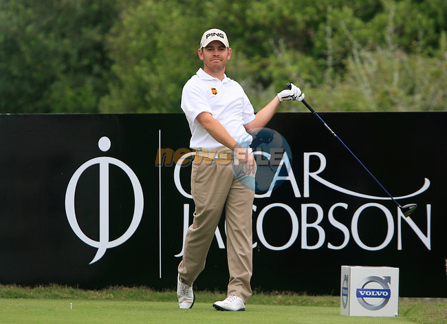 Louis Oosthuizen (RSA) tees off at the 9th tee during Day 2 of the Volvo World Match Play Championship in Finca Cortesin, Casares, Spain, 20th May 2011. (Photo Eoin Clarke/Golffile 2011)