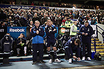 Bolton Wanderers 3 Liverpool 1, 21/01/2012. Reebok Stadium, Premier League. Home manager Owen Coyle taking his place in the dugout at the Reebok Stadium, before Bolton Wanderers take on Liverpool in a Barclays Premier League game. The match was won by Bolton by 3 goals to 1, watched by a near-capacity crowd of 26,854. The win lifted Bolton out of the relegation places in England's top division, while Liverpool remained seventh. Photo by Colin McPherson.